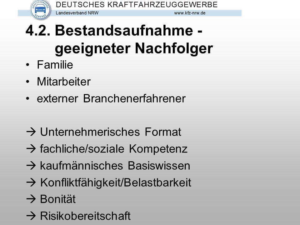 4.3.Bestandsaufnahme - Unternehmenswert Kfm.