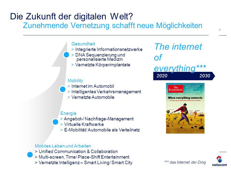 Swisscom gestaltet als führendes Unternehmen die Vernetzung der Gesellschaft – das prägt unsere Strategie und Ambitionen 4