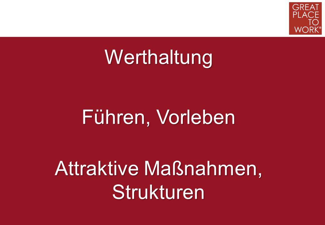 Werthaltung Führen, Vorleben Attraktive Maßnahmen, Strukturen