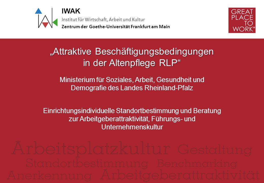 Ministerium für Soziales, Arbeit, Gesundheit und Demografie des Landes Rheinland-Pfalz Einrichtungsindividuelle Standortbestimmung und Beratung zur Ar