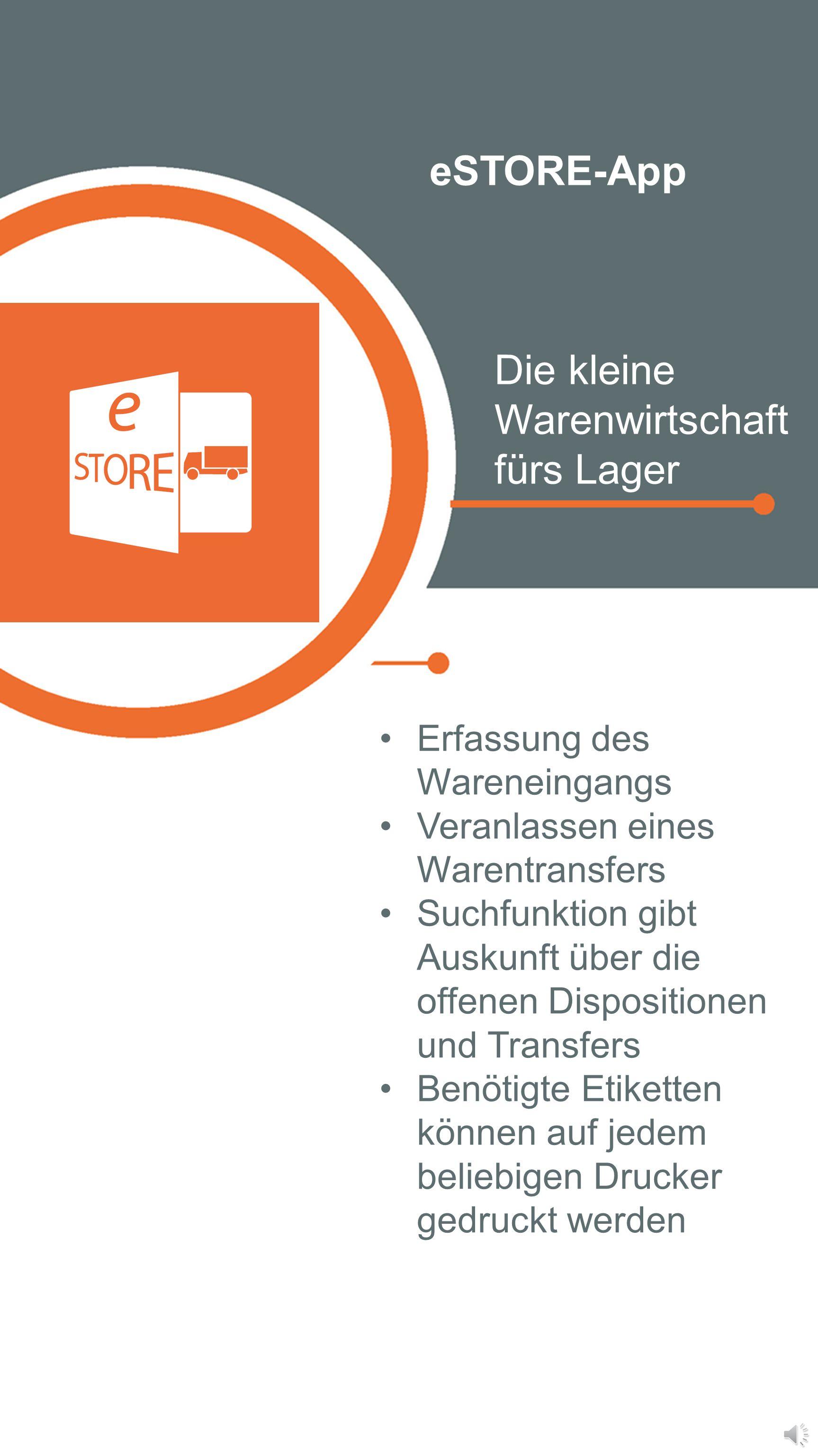 eSTOCK-App Die mobile Bestandsabfrage Einfaches Handling Service und Beratung rücken in den Vordergrund Informationen auf Abruf Artikel reservieren un