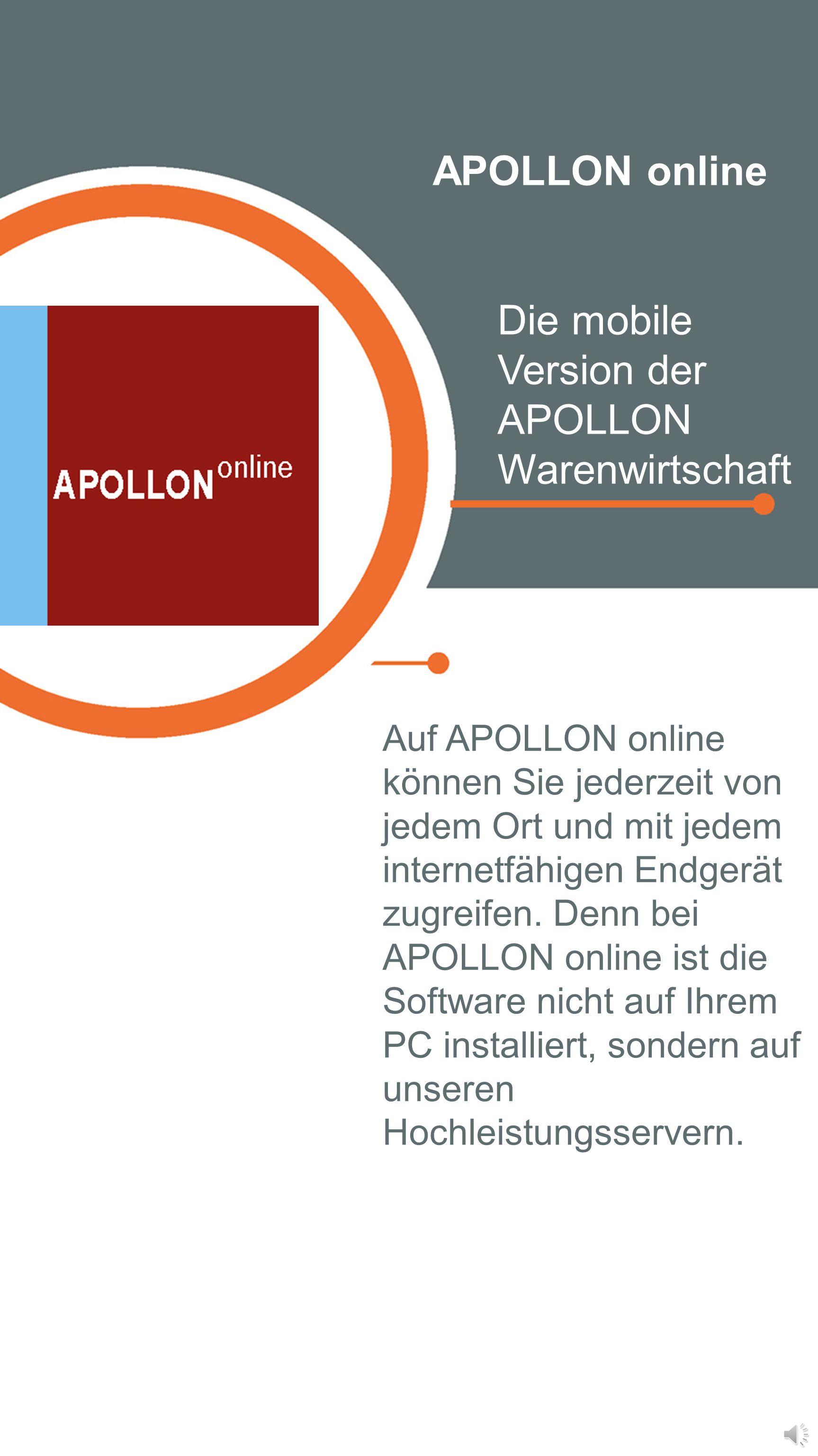 APOLLON advanced Die Warenwirtschaft für filialisierte Handelsunternehmen APOLLON advanced deckt alle Bereiche ab, die ein Artikel im Unternehmen durc