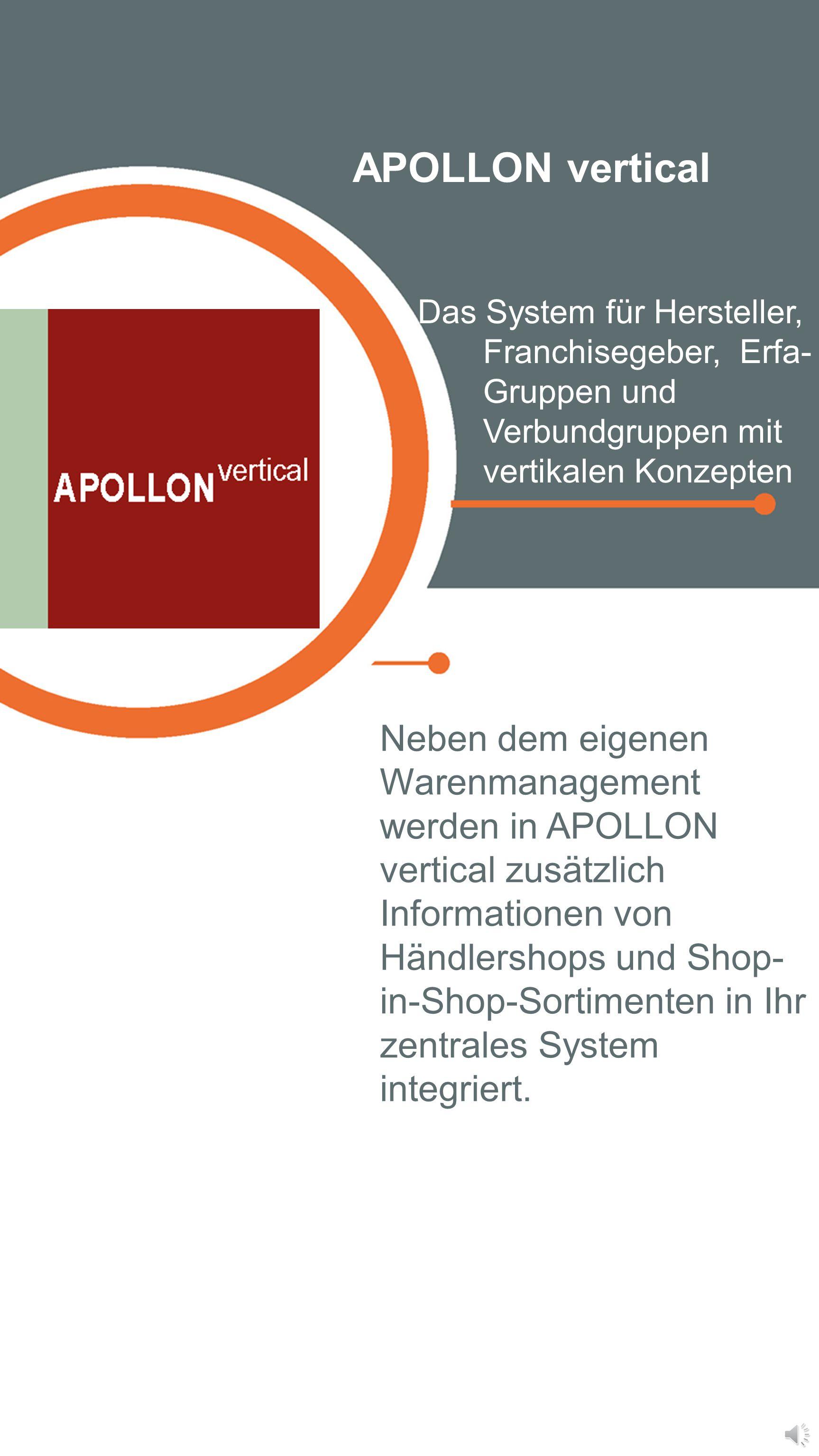 APOLLON online Die mobile Version der APOLLON Warenwirtschaft Auf APOLLON online können Sie jederzeit von jedem Ort und mit jedem internetfähigen Endg