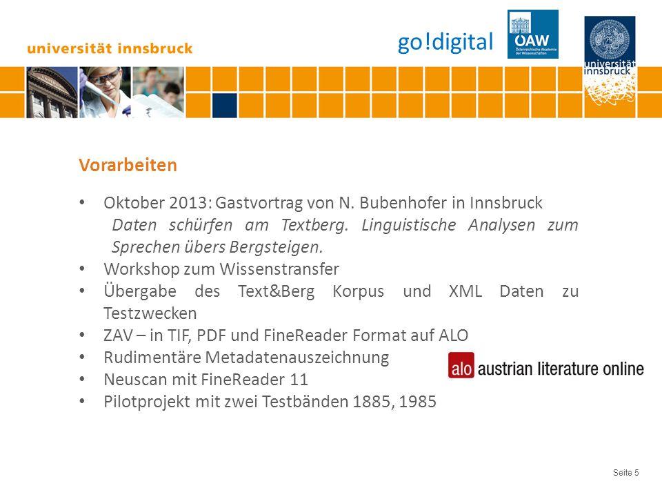 Seite 6 Projektstart 15.Oktober Inst. f. Sprachen und Literaturen, Abt.
