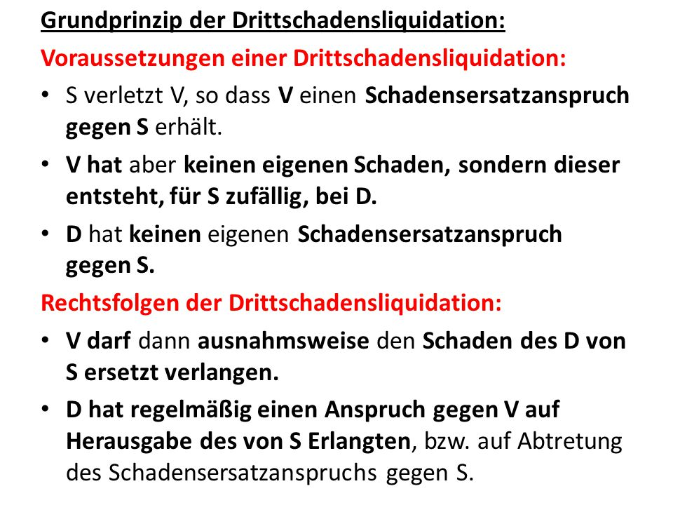 Schädiger Verletzter Dritter Schaden Anspruch auf Abtretung des Anspruchs gegen den Schädiger bzw.