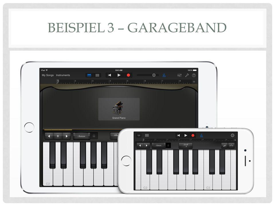 Tool zum Spielen verschiedener Instrumente Hier ist ein Video-Tutorial dazu: https://www.youtube.com/watch?v=NMZnzhDE0Xs Vorteil: verschiedene Instrumente können ausprobiert werden