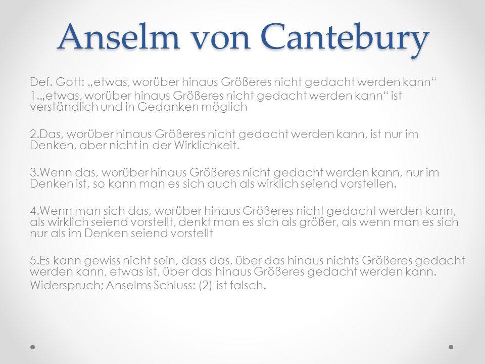 Anselm von Cantebury Def.