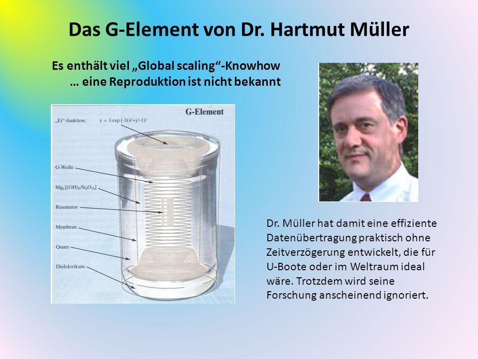"""Das G-Element von Dr. Hartmut Müller Es enthält viel """"Global scaling""""-Knowhow … eine Reproduktion ist nicht bekannt Dr. Müller hat damit eine effizien"""