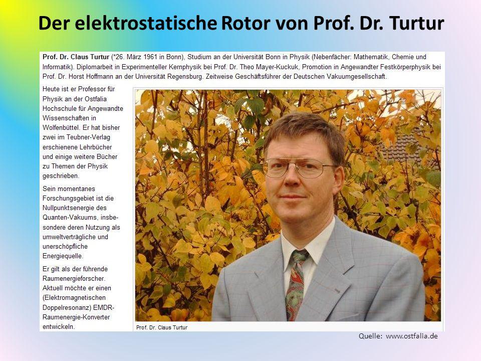 Der elektrostatische Rotor von Prof. Dr. Turtur Quelle: www.ostfalia.de