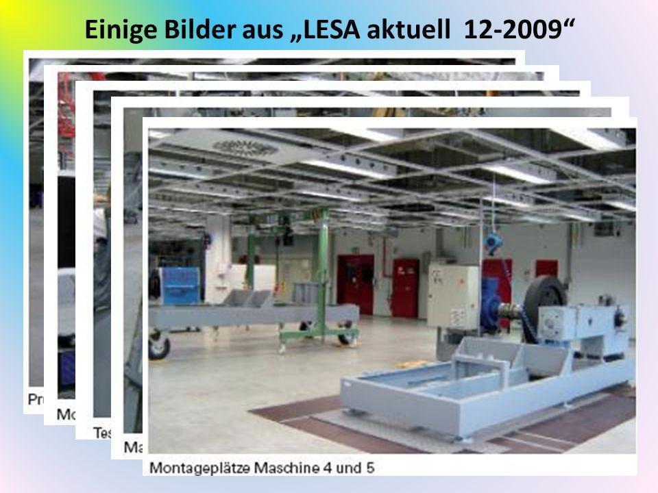 """Einige Bilder aus """"LESA aktuell 12-2009"""""""
