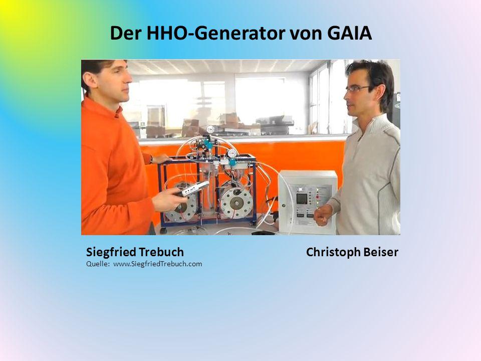 Der HHO-Generator von GAIA Christoph BeiserSiegfried Trebuch Quelle: www.SiegfriedTrebuch.com