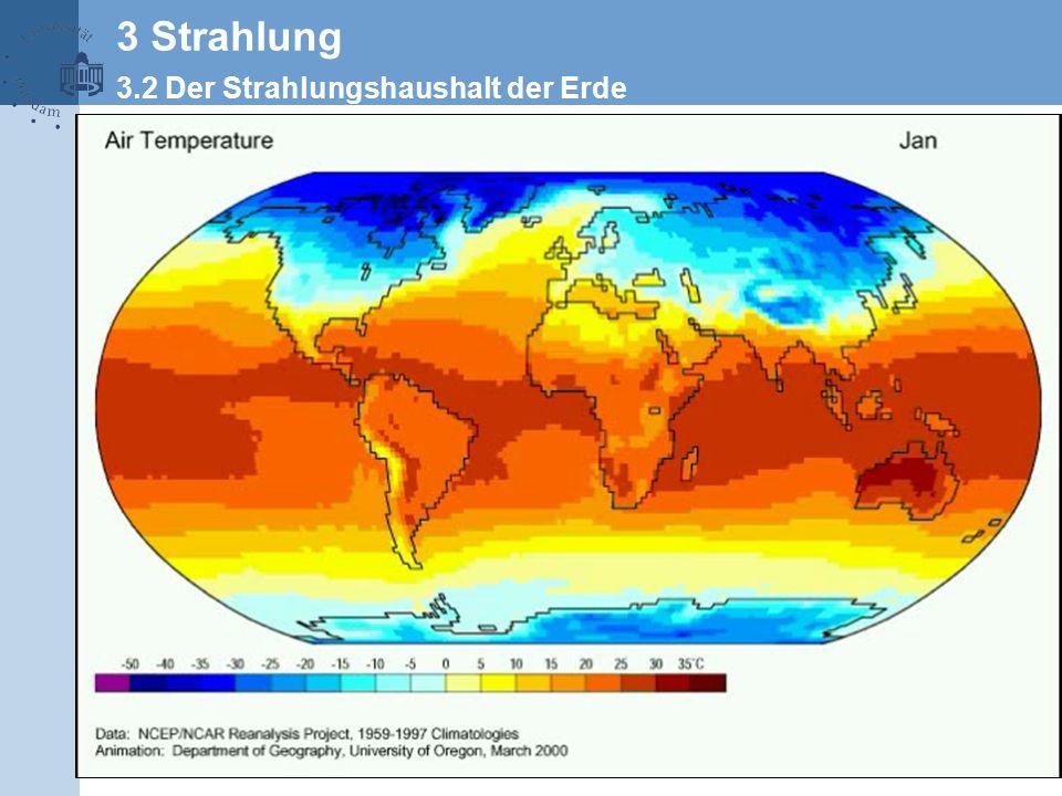 3 Strahlung 3.2 Der Strahlungshaushalt der Erde
