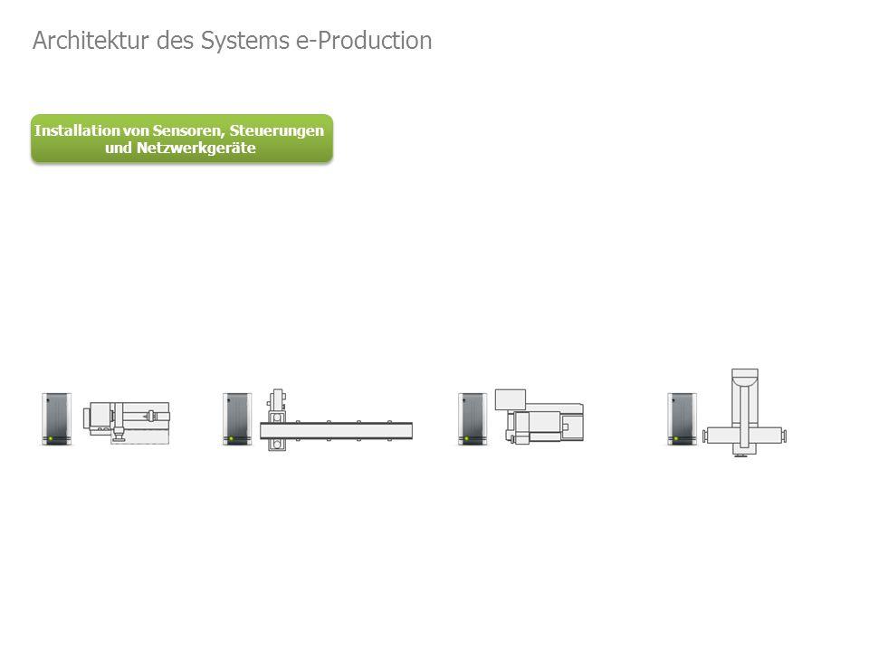 Installation von Sensoren, Steuerungen und Netzwerkgeräte Architektur des Systems e-Production