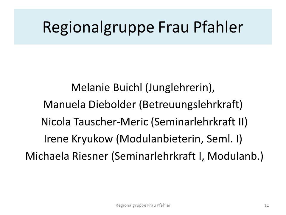 Melanie Buichl (Junglehrerin), Manuela Diebolder (Betreuungslehrkraft) Nicola Tauscher-Meric (Seminarlehrkraft II) Irene Kryukow (Modulanbieterin, Sem