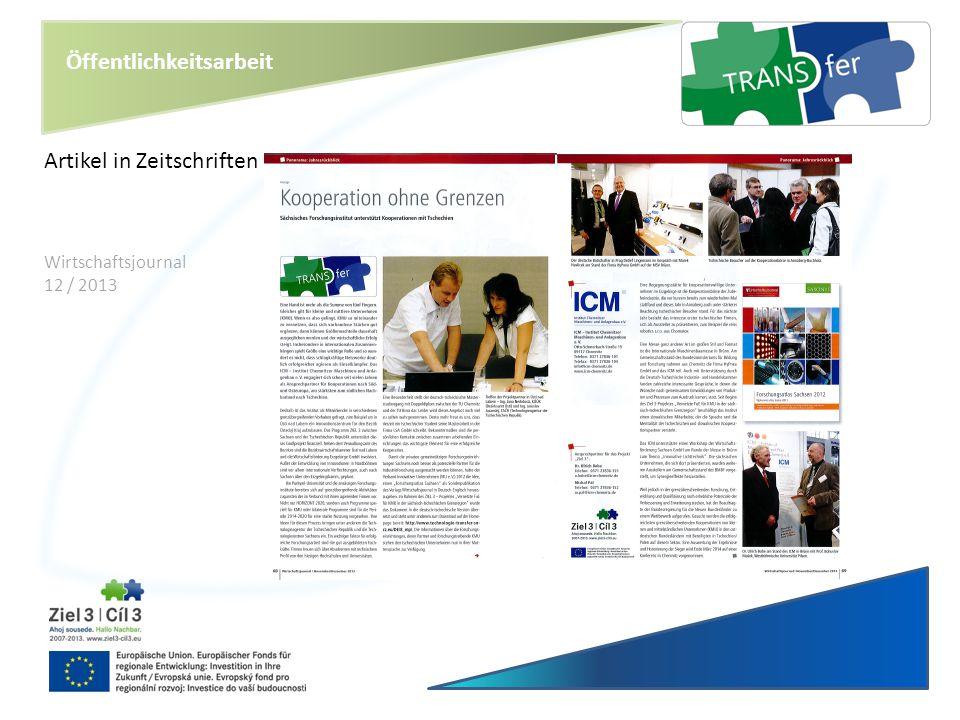 Öffentlichkeitsarbeit Artikel in Zeitschriften Wirtschaftsjournal 12 / 2013