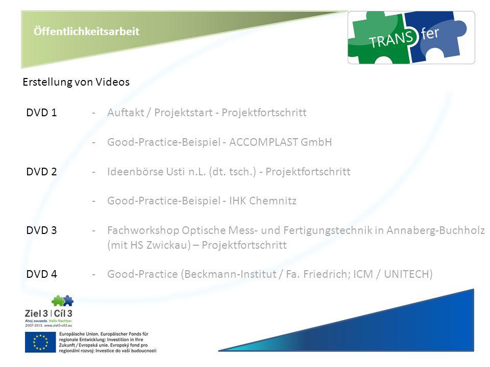 Öffentlichkeitsarbeit Erstellung von Videos -Auftakt / Projektstart - Projektfortschritt -Good-Practice-Beispiel - ACCOMPLAST GmbH -Ideenbörse Usti n.