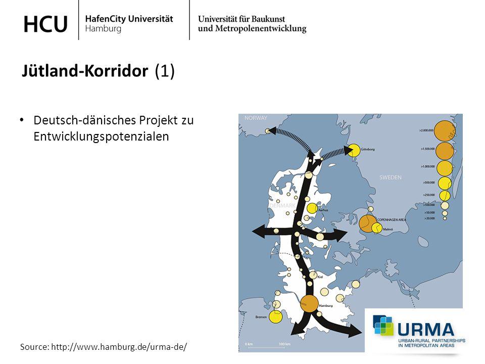 Stadtplanung im regionalen Kontext Wintersemester 2013/ 2014 Deutsch-dänisches Projekt zu Entwicklungspotenzialen Jütland-Korridor (1) Source: http://