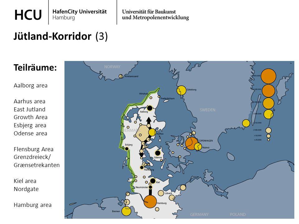 Stadtplanung im regionalen Kontext Wintersemester 2013/ 2014 Jütland-Korridor (3) Teilräume: Aalborg area Aarhus area East Jutland Growth Area Esbjerg