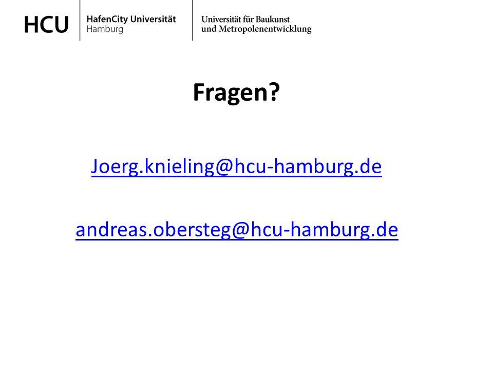 Stadtplanung im regionalen Kontext Wintersemester 2013/ 2014 Fragen? Joerg.knieling@hcu-hamburg.de andreas.obersteg@hcu-hamburg.de