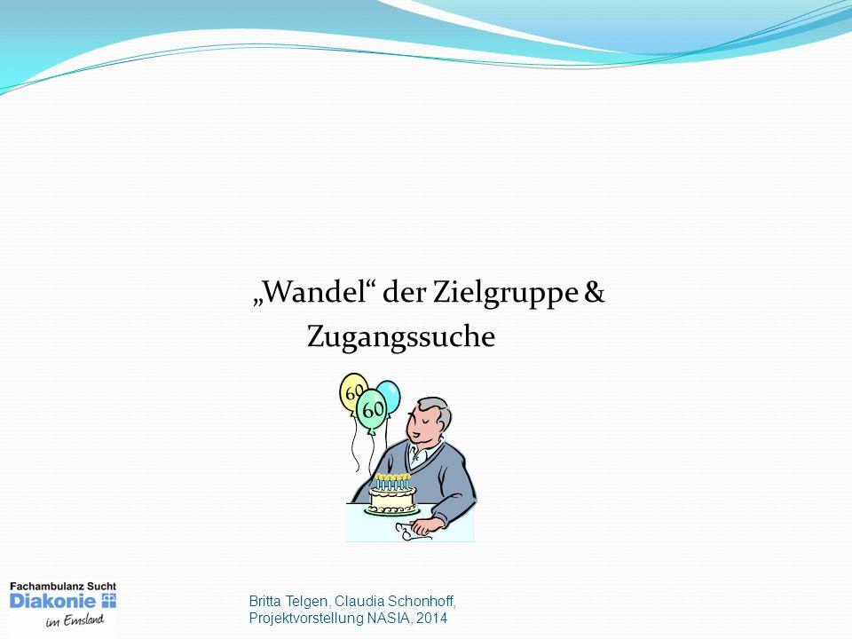 """""""Wandel der Zielgruppe & Zugangssuche Britta Telgen, Claudia Schonhoff, Projektvorstellung NASIA, 2014"""
