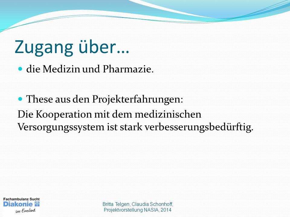 Zugang über… die Medizin und Pharmazie.
