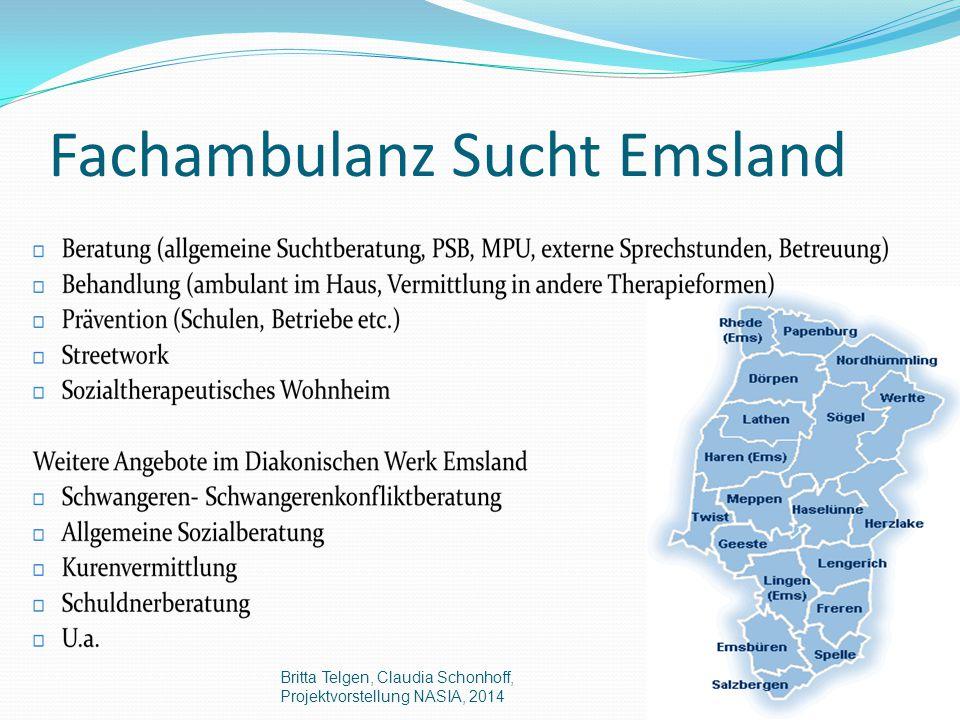 Fachambulanz Sucht Emsland Britta Telgen, Claudia Schonhoff, Projektvorstellung NASIA, 2014
