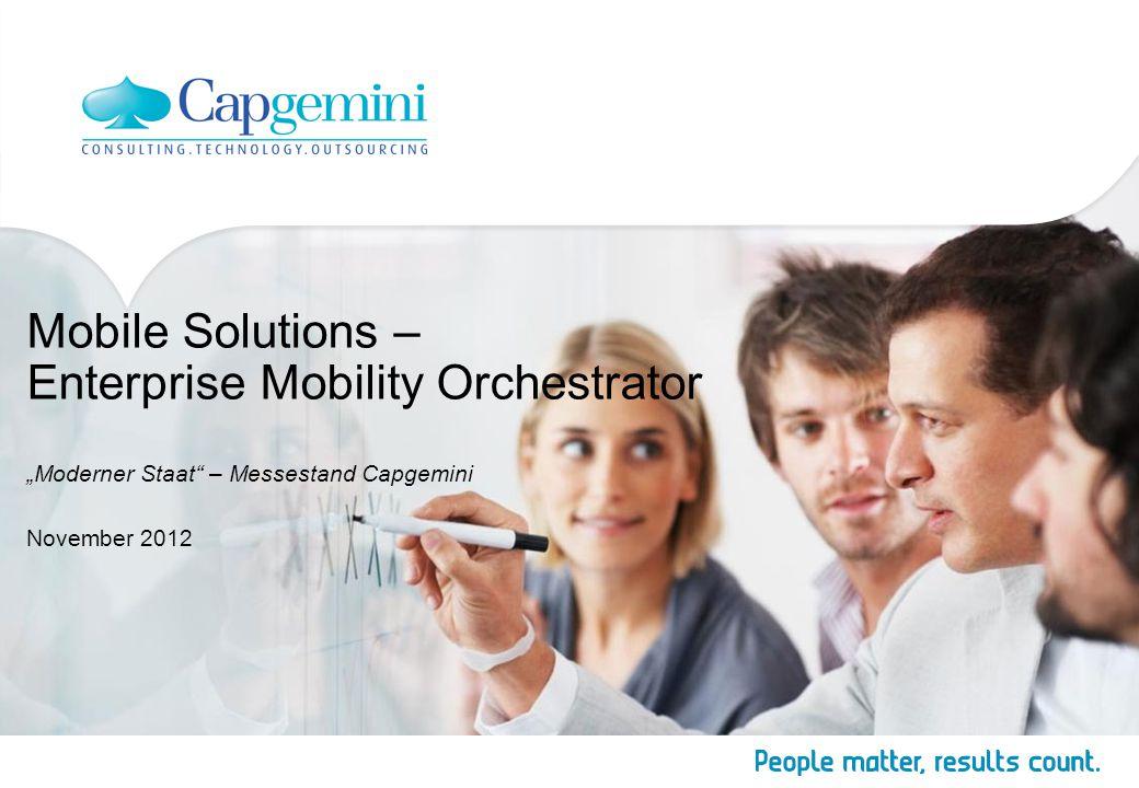 "Mobile Solutions – Enterprise Mobility Orchestrator ""Moderner Staat"" – Messestand Capgemini November 2012"