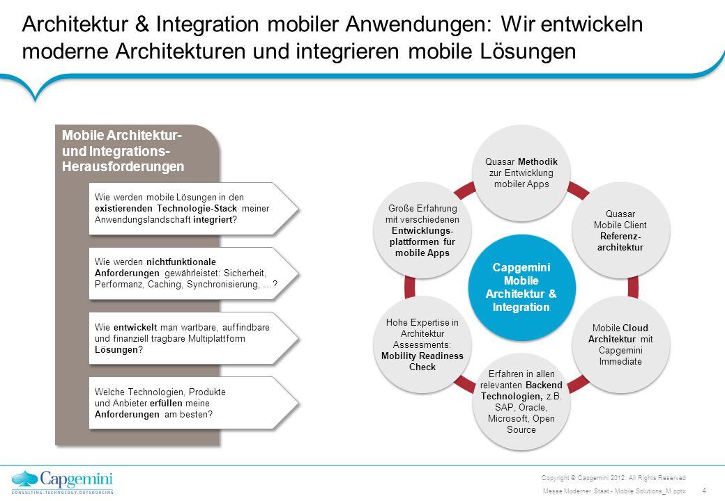 Architektur & Integration mobiler Anwendungen: Wir entwickeln moderne Architekturen und integrieren mobile Lösungen Mobile Architektur- und Integratio