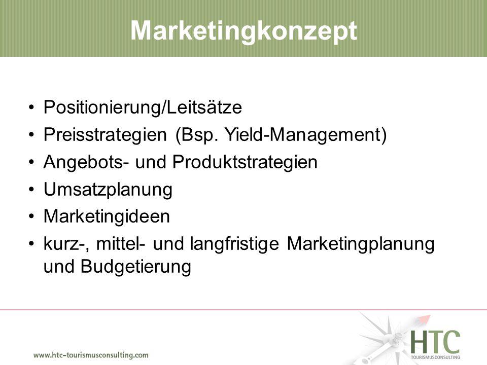 Wie findet man SIE. Marketingkonzept Positionierung/Leitsätze Preisstrategien (Bsp.