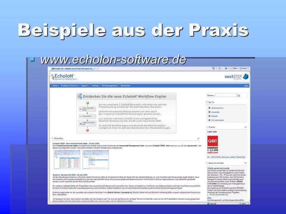 Beispiele aus der Praxis  www.echolon-software.de  www.echolon-software.de