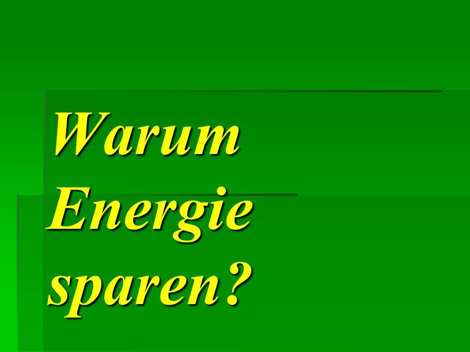 Warum Energie sparen?