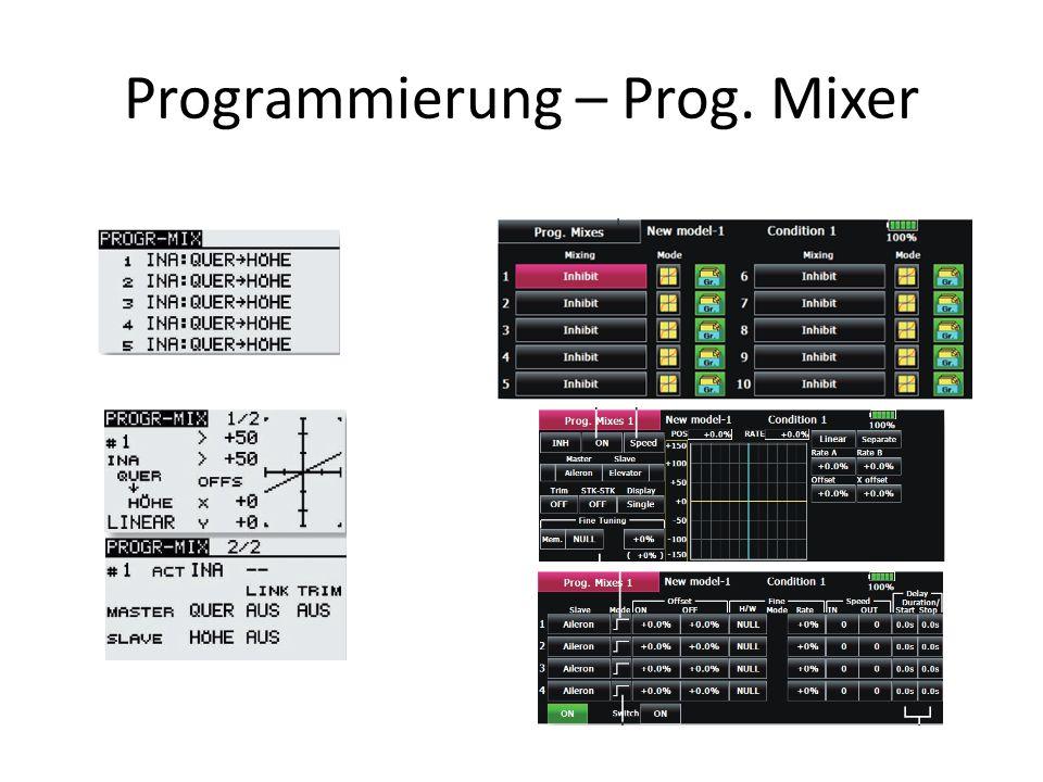 Programmierung – Prog. Mixer