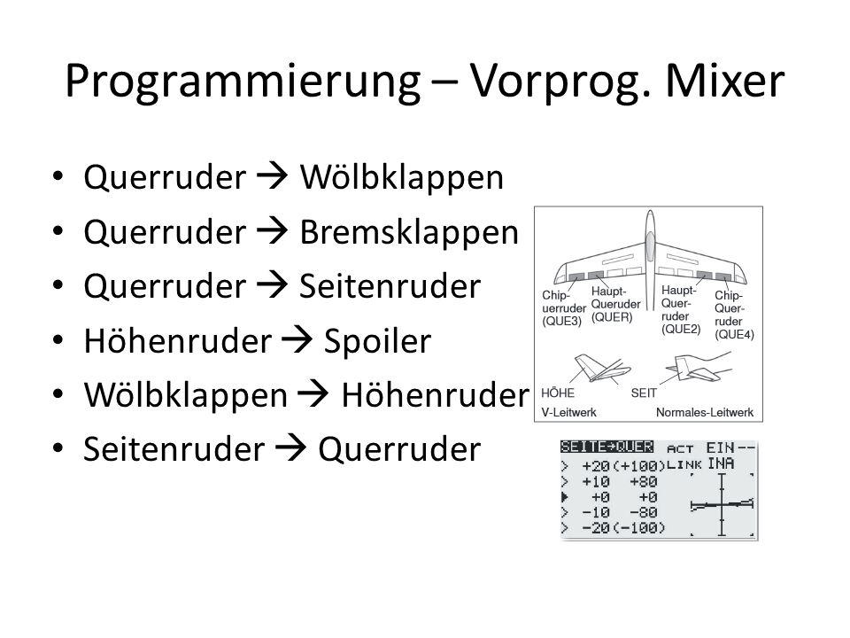 Programmierung – Vorprog.