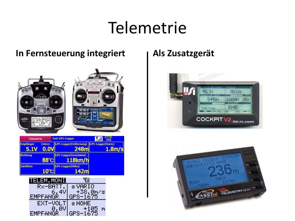 Telemetrie In Fernsteuerung integriertAls Zusatzgerät