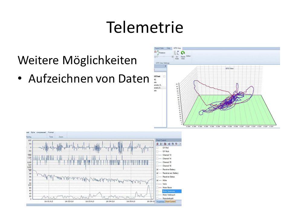 Telemetrie Weitere Möglichkeiten Aufzeichnen von Daten