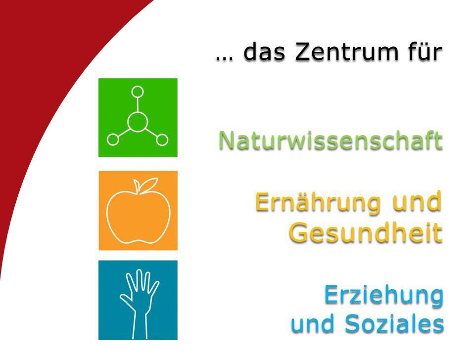 … das Zentrum für Naturwissenschaft Ernährung und Gesundheit Erziehung und Soziales