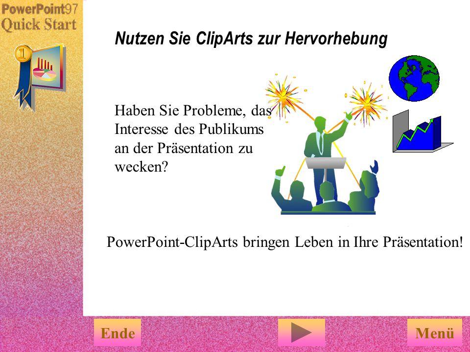 So können Sie zum Beispiel Rahmen und Schatten hinzufügen. Benutzen Sie die Hilfsmittel von PowerPoint und fügen Sie Ihren Diagrammen Effekte hinzu Be