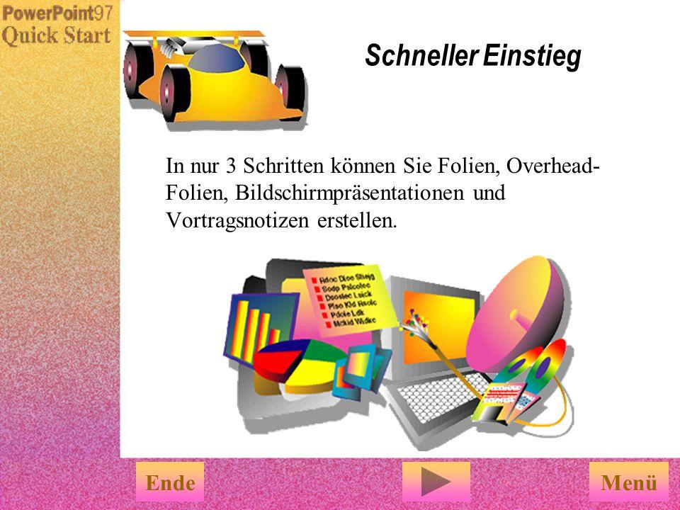Schneller Einstieg PowerPoint-Grundlagen Klicken Sie auf den obigen Text, um anzufangen. PowerPoint QuickStart Ende Rundfahrt Überblick über die Power