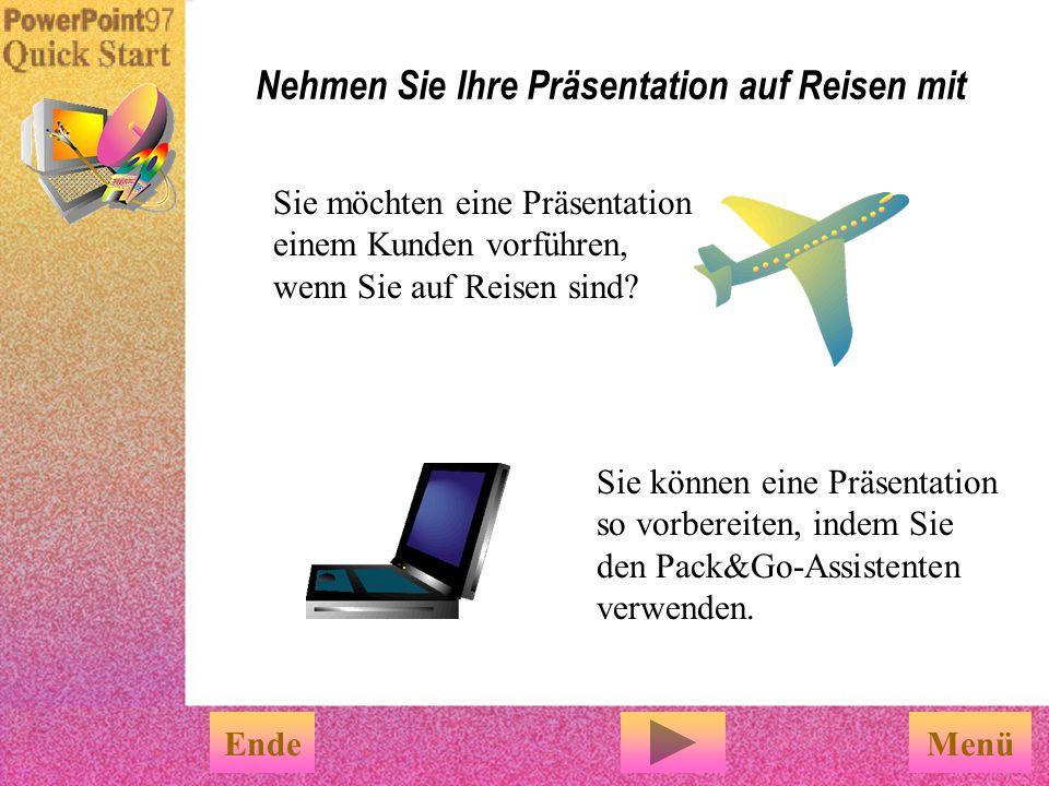 PowerPoint-Features, die es Ihnen erleichtern Bildschirmpräsentationen zu erstellen EndeFertig Sie können die speziellen Features für Bildschirm- präs