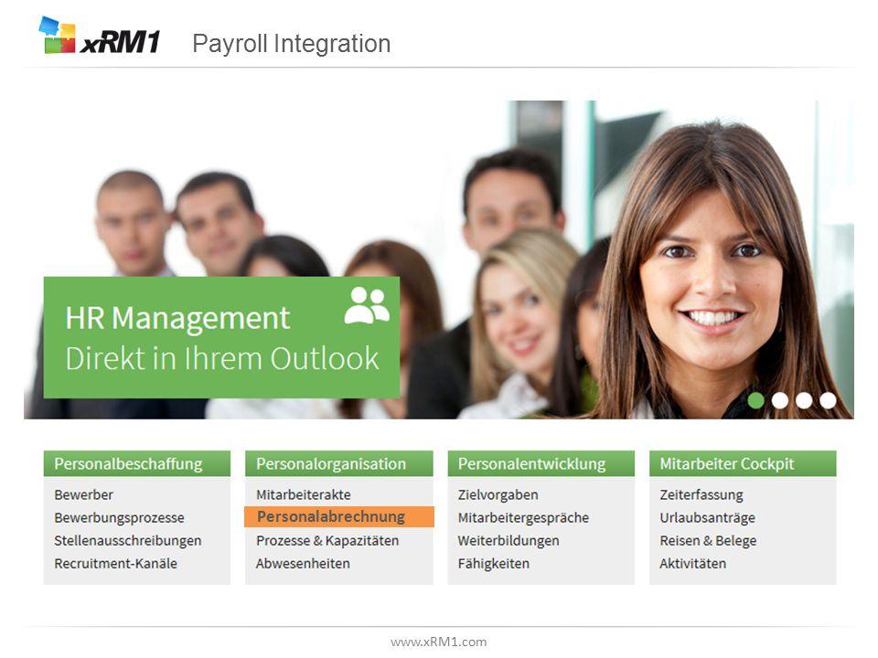 www.xRM1.com Payroll Integration Personalabrechnung