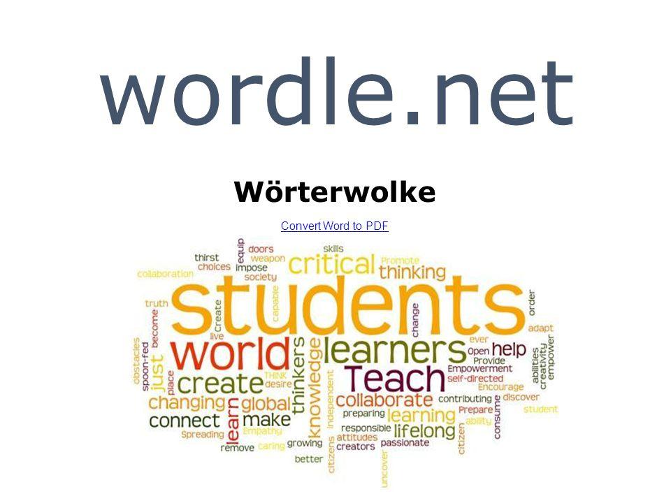 wordle.net Wörterwolke Convert Word to PDF Convert Word to PDF