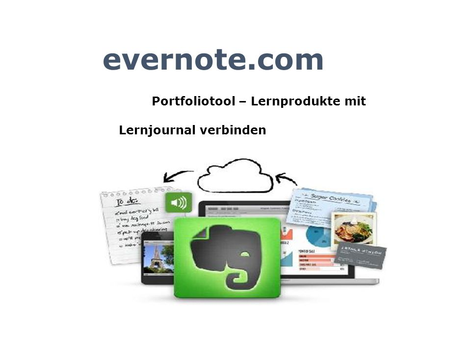 evernote.com Portfoliotool – Lernprodukte mit Lernjournal verbinden