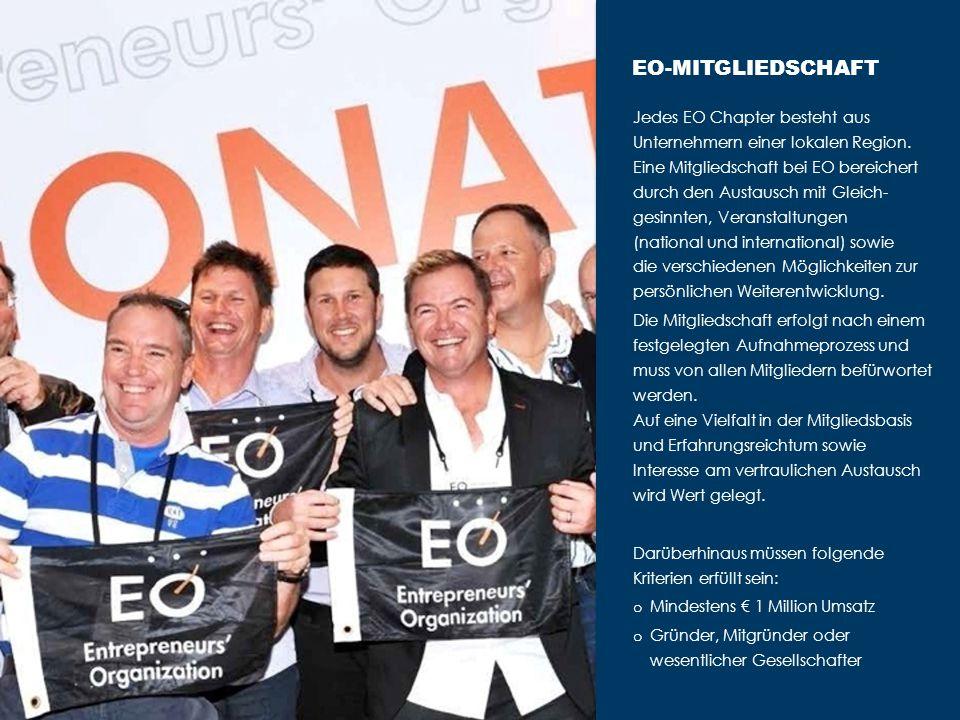 Jedes EO Chapter besteht aus Unternehmern einer lokalen Region.