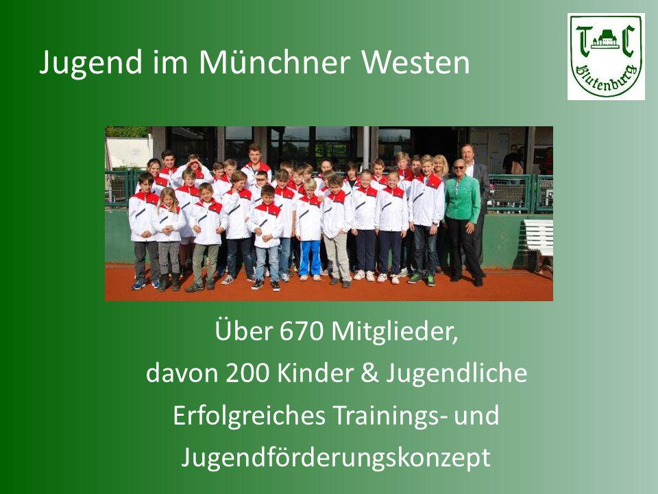 Jugend im Münchner Westen Über 670 Mitglieder, davon 200 Kinder & Jugendliche Erfolgreiches Trainings- und Jugendförderungskonzept