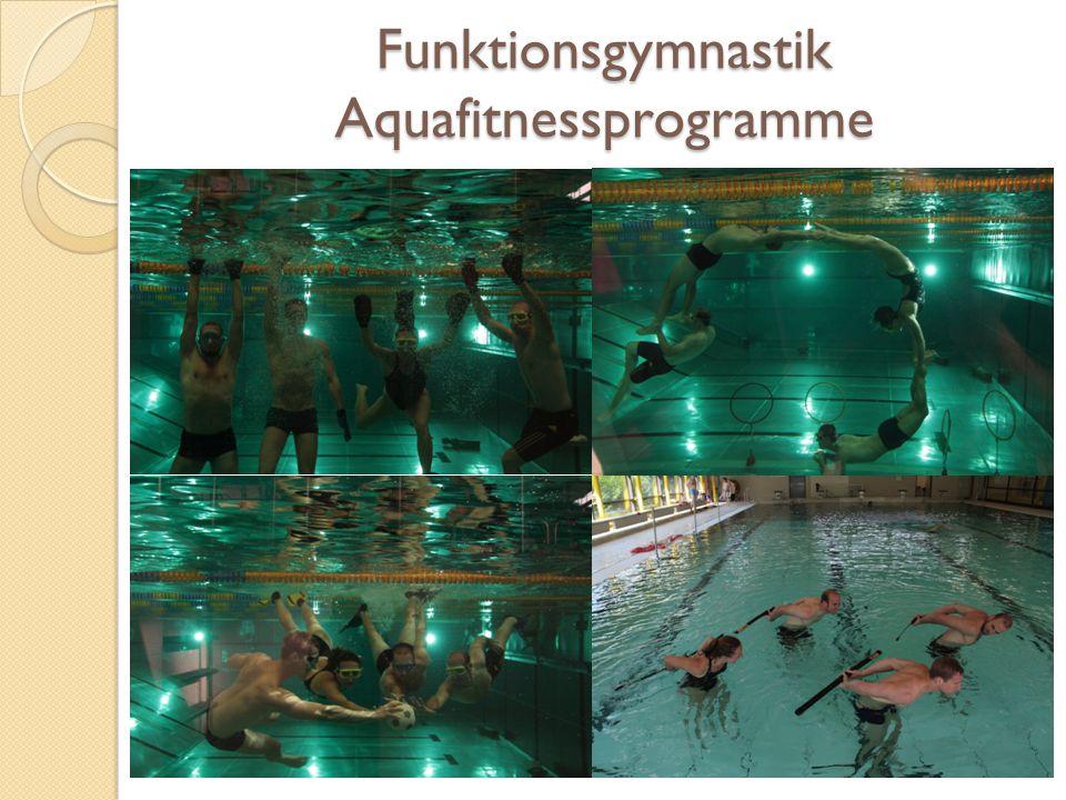 Funktionsgymnastik Aquafitnessprogramme