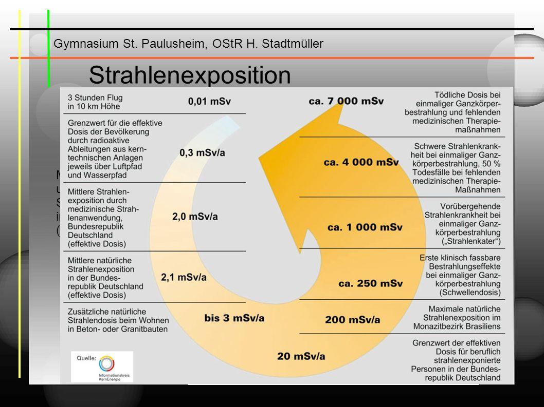 Gymnasium St. Paulusheim, OStR H. Stadtmüller weitere Info s: www.kernernergie.de