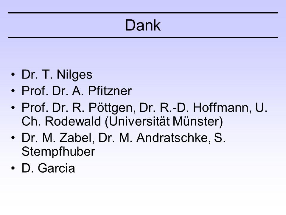 Dr. T. Nilges Prof. Dr. A. Pfitzner Prof. Dr.