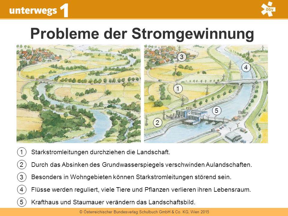 © Österreichischer Bundesverlag Schulbuch GmbH & Co. KG, Wien 2015 Probleme der Stromgewinnung Starkstromleitungen durchziehen die Landschaft. Besonde