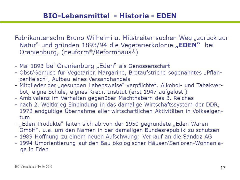 """BIO_Verwaltakad_Berlin_2010 17 Fabrikantensohn Bruno Wilhelmi u. Mitstreiter suchen Weg """"zurück zur Natur"""" und gründen 1893/94 die Vegetarierkolonie """""""