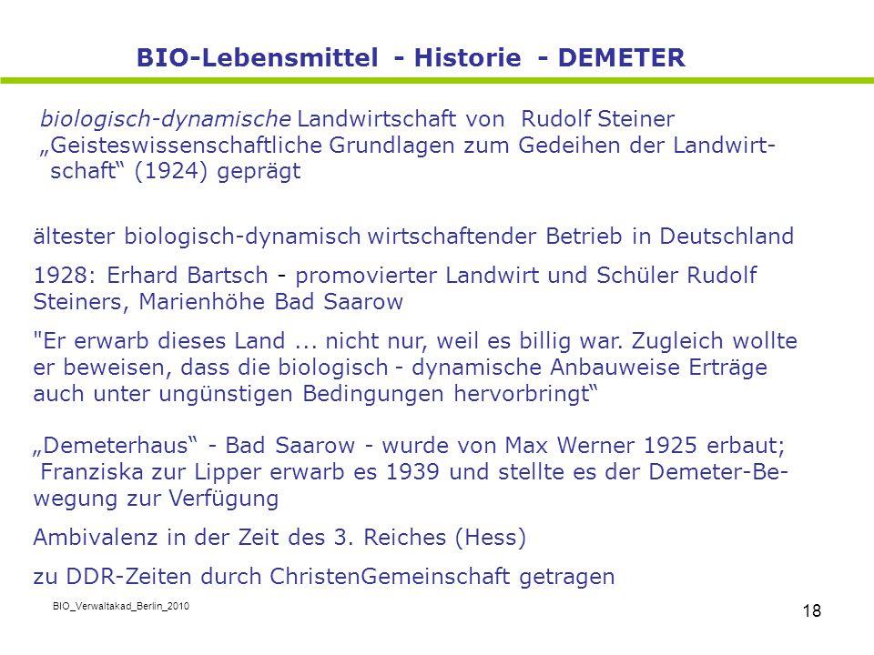 """BIO_Verwaltakad_Berlin_2010 18 biologisch-dynamische Landwirtschaft von Rudolf Steiner """"Geisteswissenschaftliche Grundlagen zum Gedeihen der Landwirt-"""